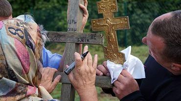 Modlitwy w okolicy cmentarza staroobrzedowców