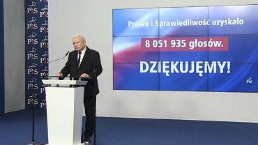 """Kaczyński przyznaje, że """"w tej chwili"""" PiS nie ma większości w Senacie"""