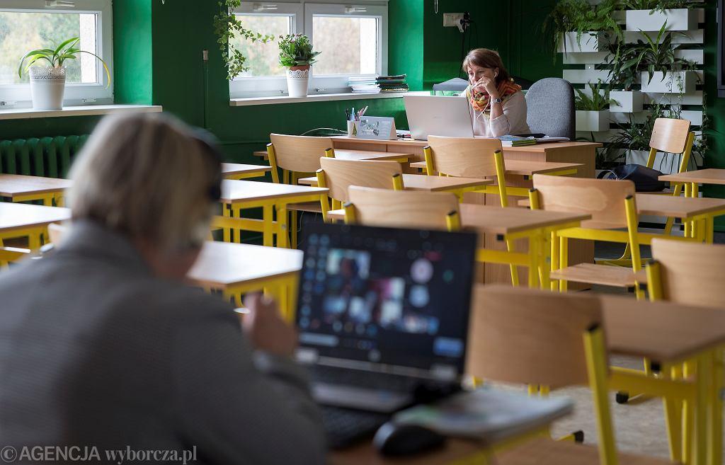 Zdalne nauczanie w Szkole Podstawowej nr 11 w Katowicach, 26.10.2020