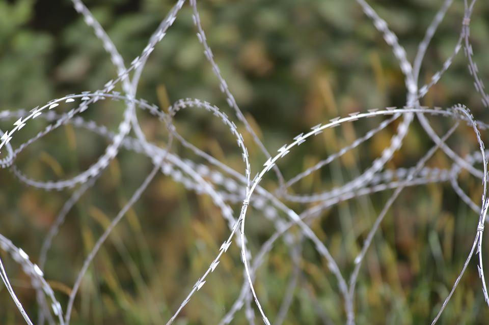 Kopczany. Mariusz Błaszczak, minister obrony narodowej, w poniedziałek (23 sierpnia) zapowiedział powstanie na granicy z Białorusią 'nowego, solidnego płotu' o wysokości 2,5 metra. W trakcie konferencji prasowej na granicy polsko-białoruskiej w pobliżu Litwy oświadczył na tle zasieków i w otoczeniu kordonu żołnierzy z karabinami: - Nie pozwolimy na forsowanie granicy N/Z słup graniczne i zasieki z drutu falanga rozciągniętego wzdłuż granicy