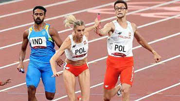 Rywalizacja sztafet mieszanych podczas igrzysk olimpijskich w Tokio