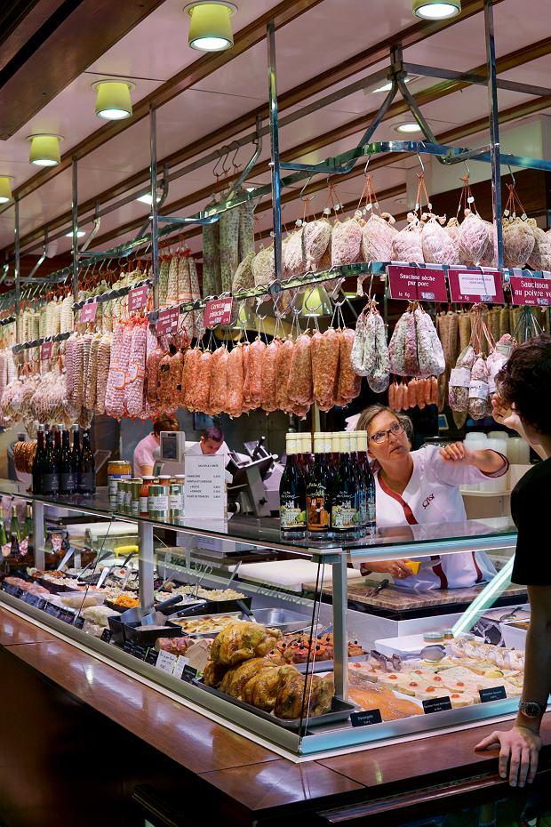 Charcuterie (sklep z wędlinami) w Les Halles