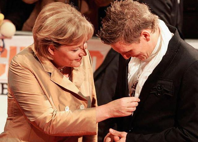 Angela Merkel i Bastian Schweinsteiger
