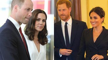 Książę William i księżna Kate, książę Harry i Meghan Markle