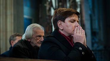 Beata Szydło w kościele dominikanów