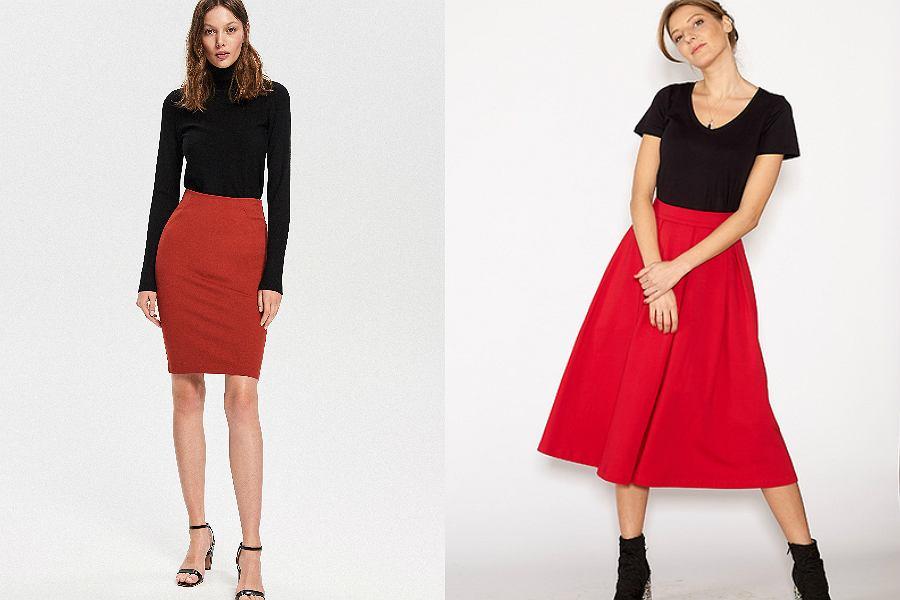 czerwone spódnice