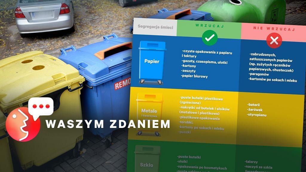 Czytelnicy Gazeta.pl mają ciekawe pomysły na segregację śmieci