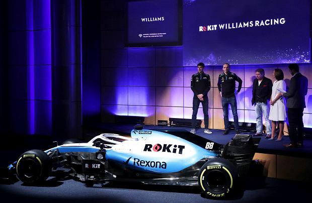 George Russell i Robert Kubica na prezentacji nowego bolidu Williamsa