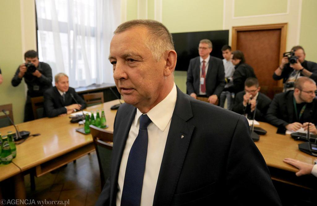 26.11.2019 Warszawa . Marian Banaś przed sejmową Komisją Kontroli Państwowej.