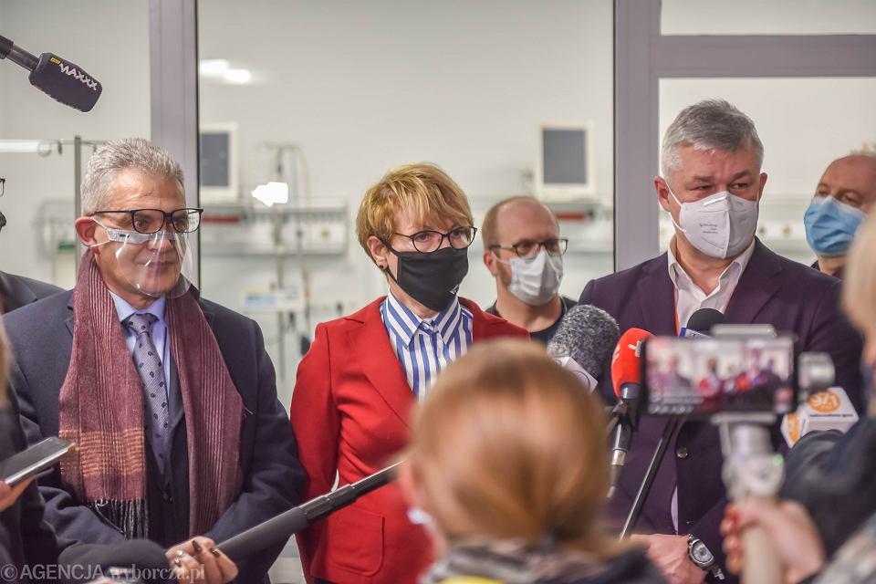 Zielona Góra, 7 grudnia 2020, Centrum Zdrowia Matki i Dziecka. Otwarcie tymczasowego szpitala dla chorych na COVID-19