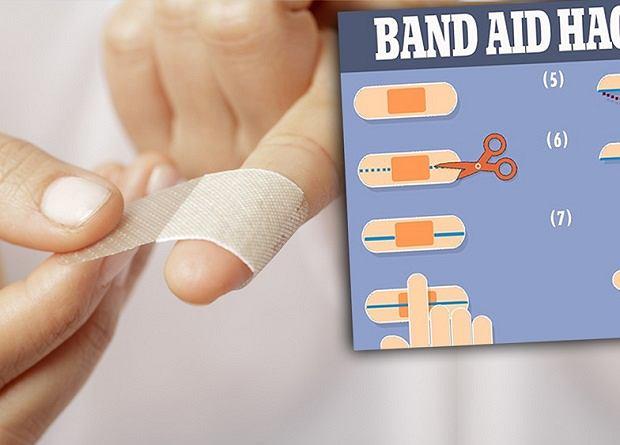 Prosty trik na zsuwające się z palców plastry opatrunkowe