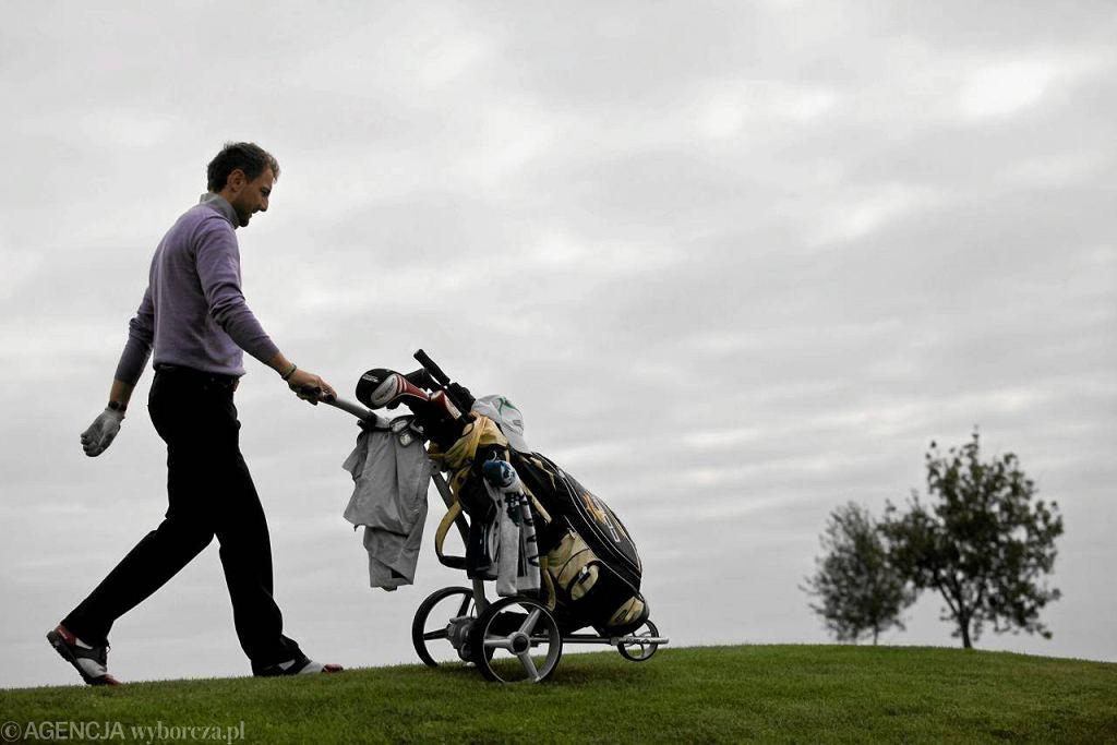 Jerzy Dudek na polu golfowym