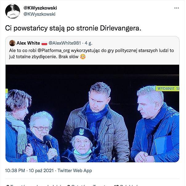 Krzysztof Wyszkowski w skandaliczny sposób komentuje prounijne protesty
