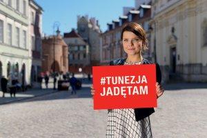 Joanna Jabłczyńska w kampanii Tunezja. Jadę tam
