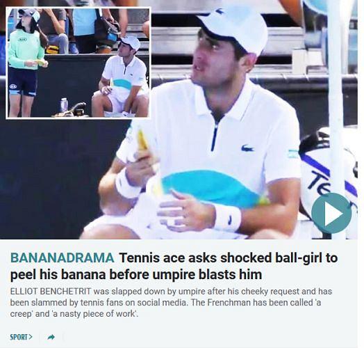 'Bananadrama' na Australian Open