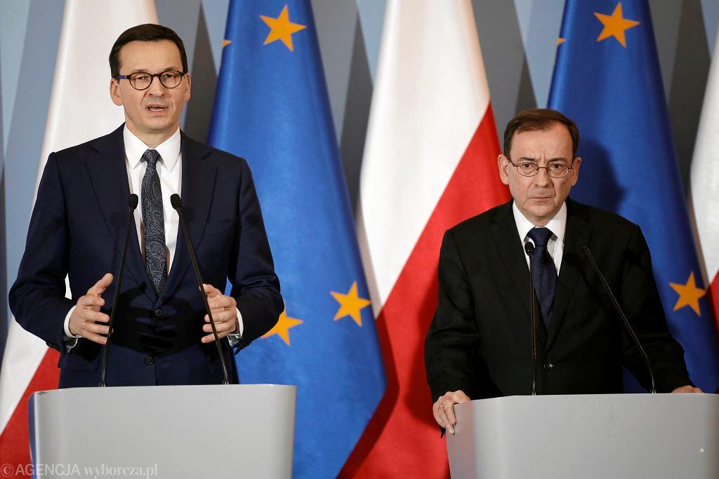 Premier Mateusz Morawiecki i Mariusz Kamiński