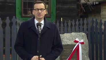 Mateusz Morawiecki w miejscowości Sadowne - materiał w 'Wiadomościach' TVP