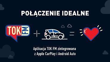 Aplikacja TOK FM zintegrowana z systemem Android Auto