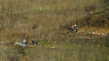 Szczątki helikoptera Bryanta na wzgórzu Calabasas