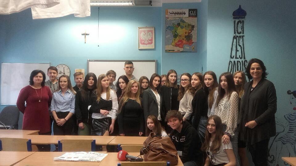 Klasa 3 z Gimnazjum nr 9 z nauczycielkami od języka francuskiego