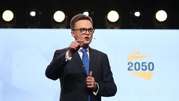 Szymon Hołownia. Konwencja ruchu Polska 2050 w Warszawie