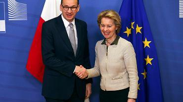 6.02.2020, Bruksela, Mateusz Morawiecki i przewodnicząca Komisji Europejskiej Ursula von der Leyen.