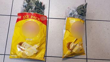 Marihuana w paczkach chipsów