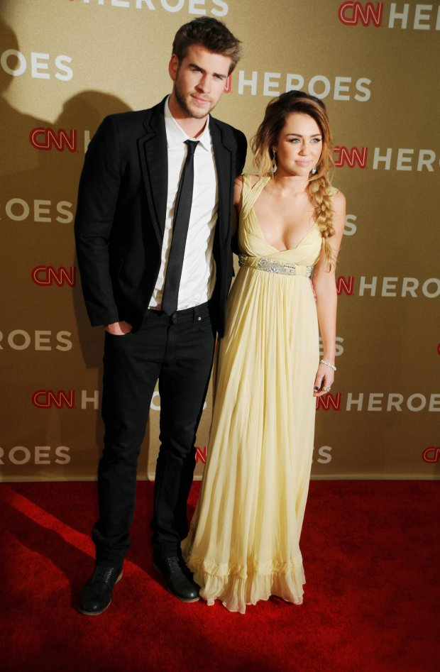 12/11/2011 - Miley Cyrus and Liam Hemsworth - 2011 CNN Heroes: An All-Star Tribute - Arrivals - Shrine Auditorium - Los Angeles, CA, USA - Keywords:  Orientation: Portrait Face Count: 1 - False - Photo Credit: Koi Sojer / PR Photos - Contact (1-866-551-7827) - Portrait Face Count: 1