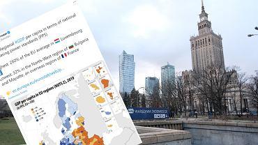 Regionalny PKB na mieszkańca wyrażony w standardzie siły nabywczej (PPS) w UE