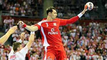 Krzysztof Lijewski podczas meczu Polska - Norwegia
