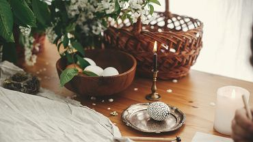 ?Easter,Stylish,Rural,Still,Life.,Stylish,Easter,Egg,With,Modern