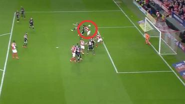 Gol Krystiana Bielika w meczu Charlton - Doncaster