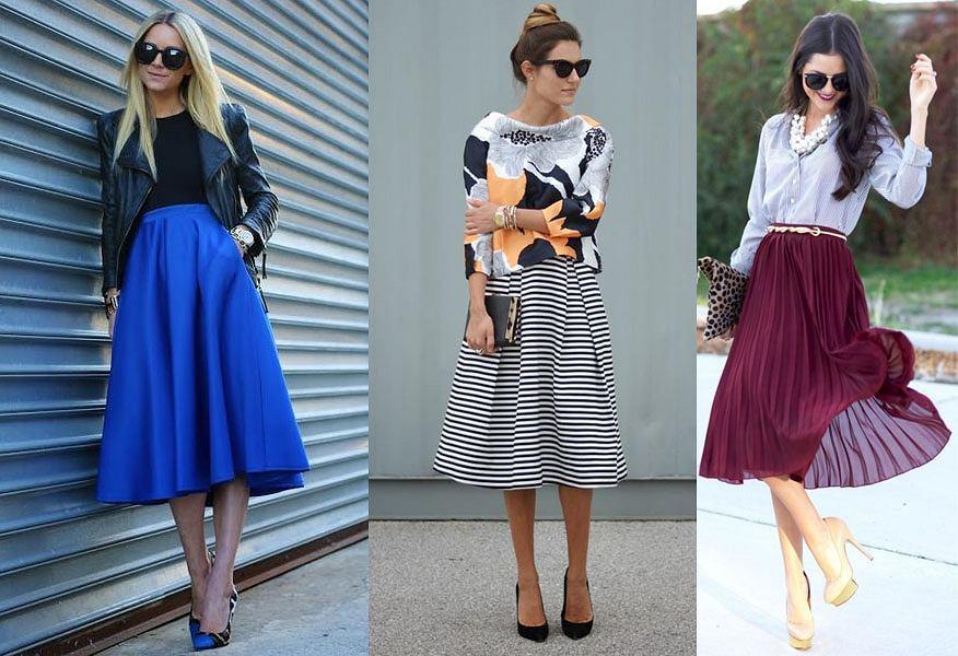 d2c8a752 Jak nosić trapezową spódnicę: 3 przykłady modnych jesiennych stylizacji