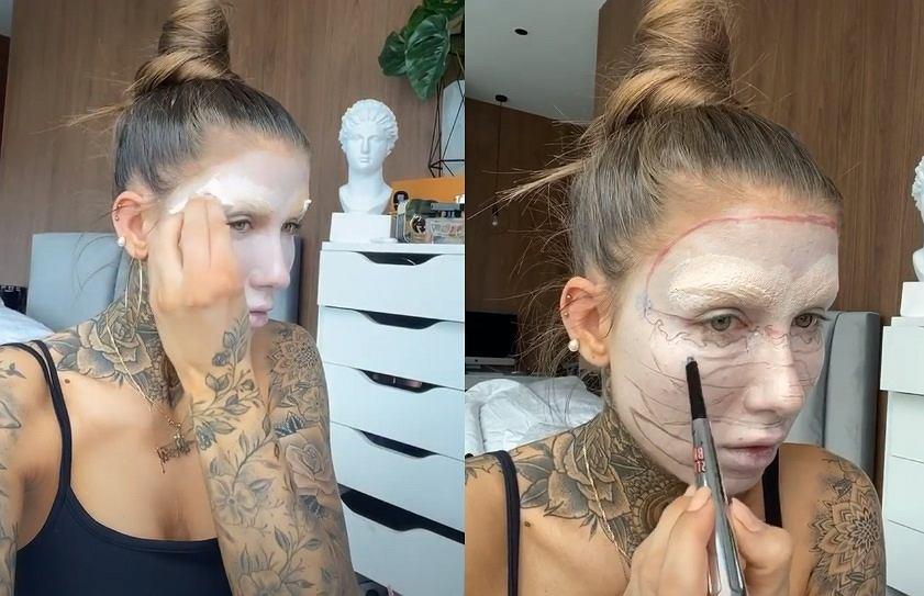 Deynn wykonała makijaż, którym zaskoczyła wszystkich. Ze swojej twarzy zrobiła... hamburgera!