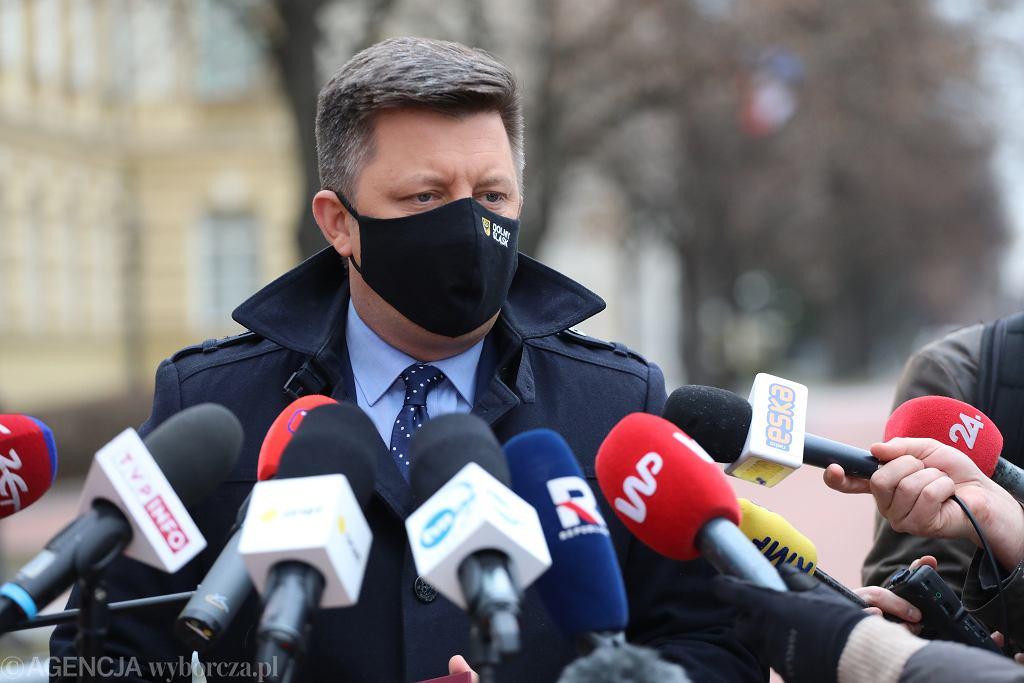 Konferencja ministra Michała Dworczyka przed KPRM