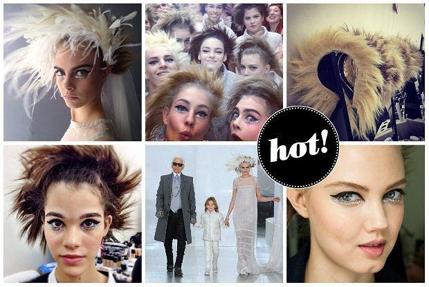 Chanel Couture: brokatowy makijaż i opaski z włosów - mnóstwo inspiracji z pokazu