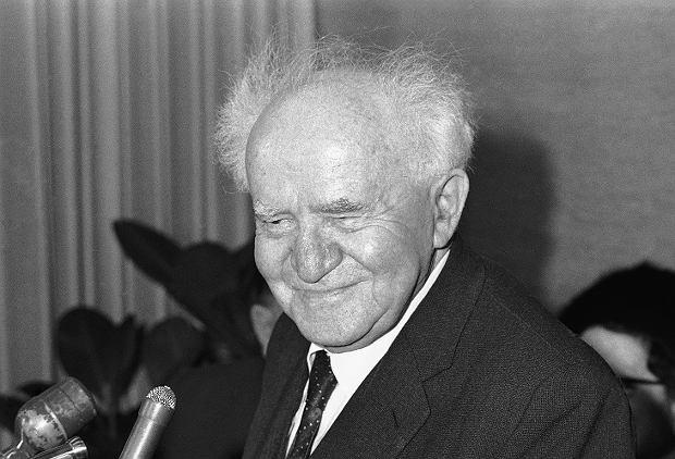 Dawid Ben Gurion (1886-1973). Premier Izraela wykorzystał proces do wzmocnienia pozycji państwa