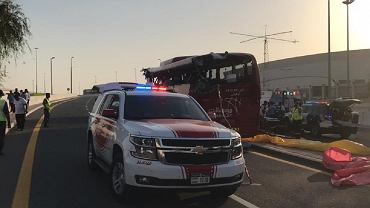 Wypadek w Dubaju