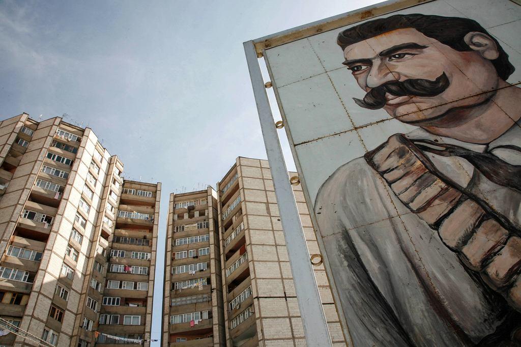 Erywan?, blokowisko z portretem ormian?skiego bohatera Gevorga Chausha, który na pocza?tku XX wieku walczył przeciwko Turcji