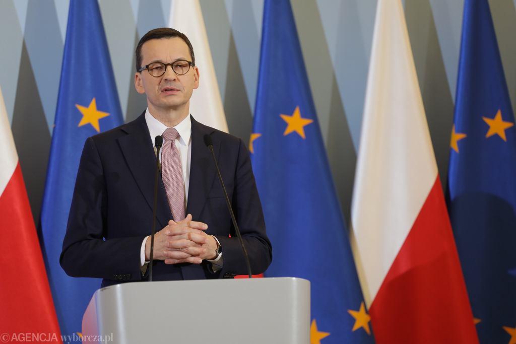 Szef rządu Mateusz Morawiecki