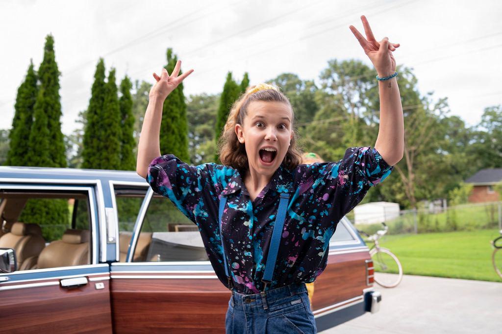 Jedenastka (Millie Bobby Brown), na planie zdjęciowym 3. sezonu 'Stranger Things'