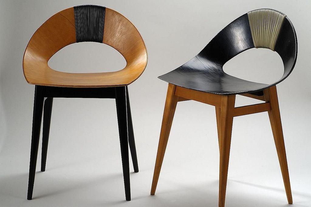 Krzesło 'Muszelka' z 1956 roku, które produkowała w dwóch wersjach kolorystycznych Spółdzielnia Artystów ŁAD.