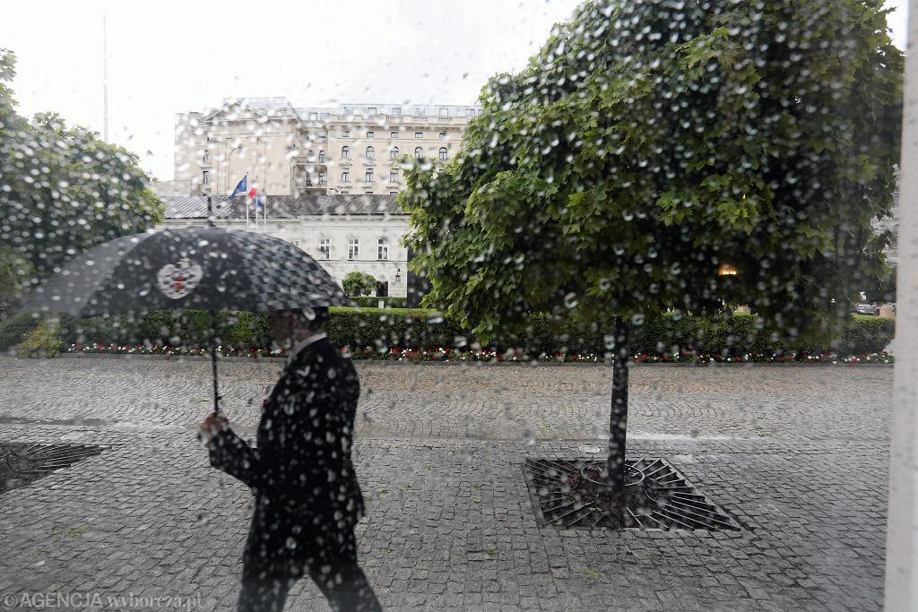 Deszcz w Warszawie