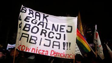 Miarka się przebrała! Protest kobiet pod Sejmem RP, Warszawa 13 stycznia 2018