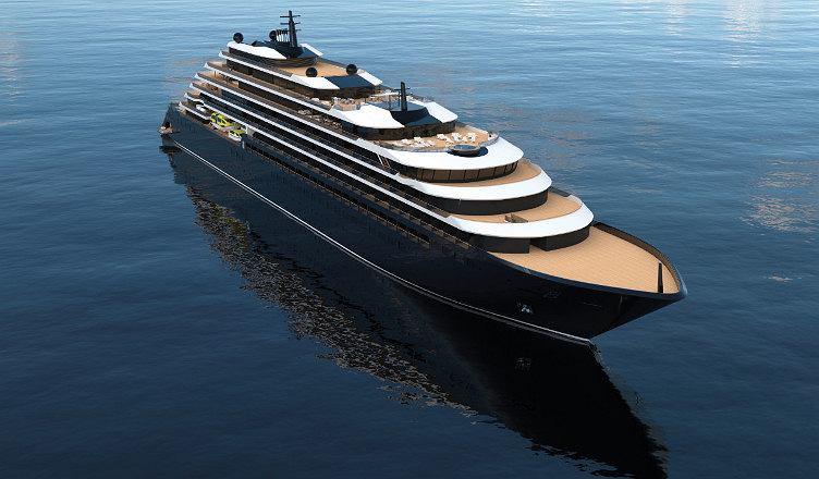 Wizualizacja statku wycieczkowego Ritz-Carlton Yacht Collection. To tylko artystyczna koncepcja. Ritz-Carlton Yacht Collection może zmienić plany, wyposażenie i wygląd statku