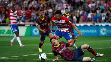Lionel Messi w meczu z Granadą