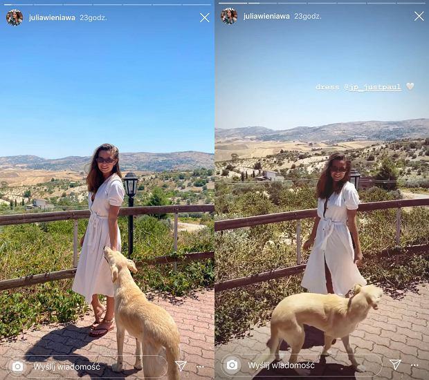 Julia Wieniawa w modnej sukience idealnej na lato