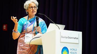 Koronawirus. WHO: Delta staje się dominującym wariantem koronawirusa na świecie. Na zdjęciu główna specjalistka naukowa Światowej Organizacji Zdrowia Soumya Swaminathan