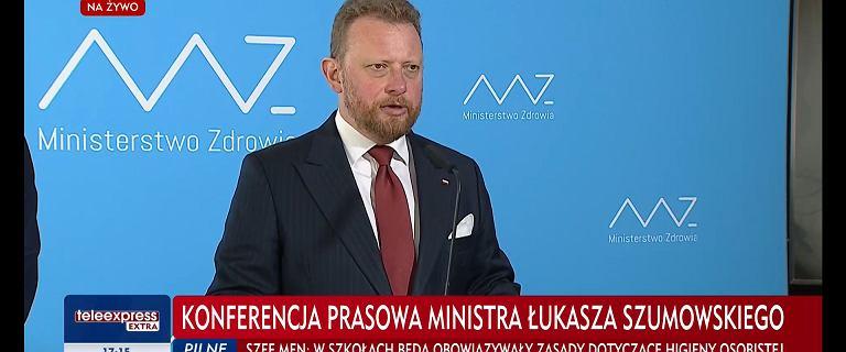 Szumowski: Powrót obostrzeń w 19 powiatach