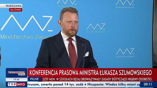 """Szumowski: Powrót obostrzeń w 19 powiatach. Na terenie Polski wyróżniono """"czerwone strefy"""" [LISTA]"""